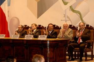 Autoridades Metro y Universidad de Chile
