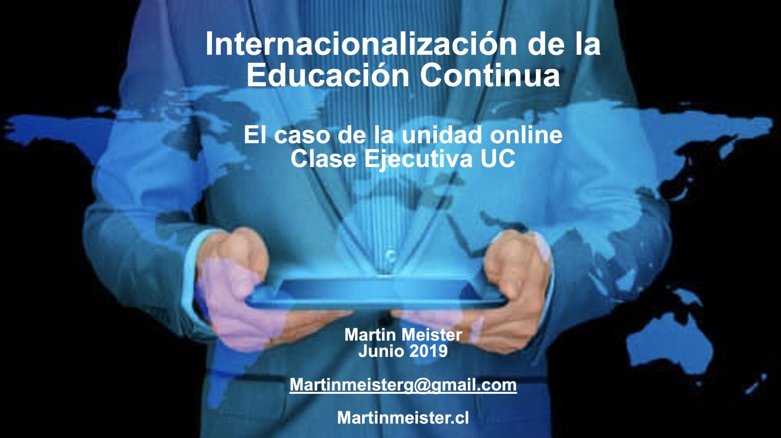 Internacionalizacion de la educacion continua - Martin Meister