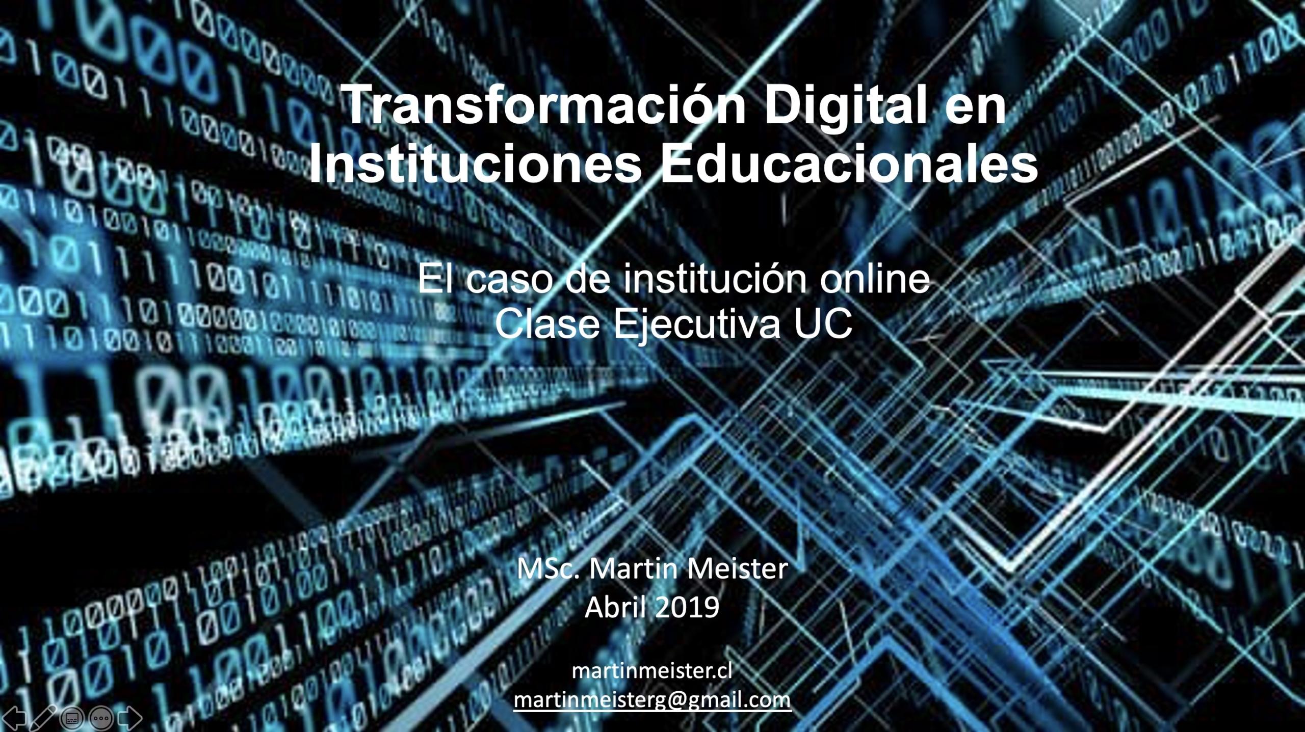 Transformación Digital en Instituciones Educacionales - Martin Meister